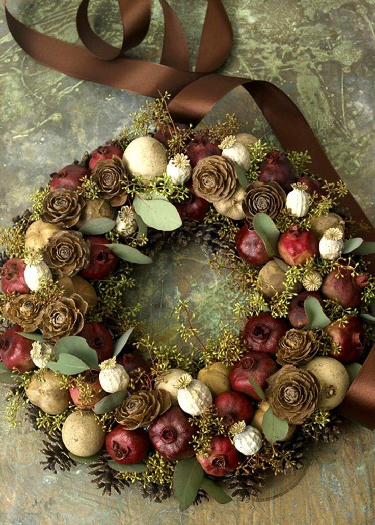 23 hermosas coronas para decorar la puerta esta navidad